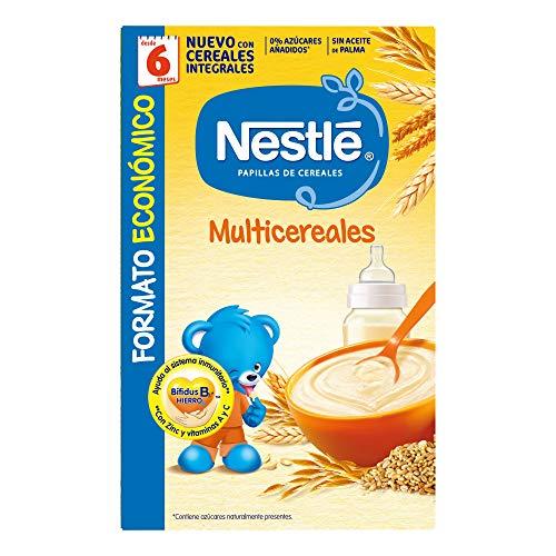 Nestlé Multicereales Papilla de Cereales Instantánea de Fácil Disolución, 500g