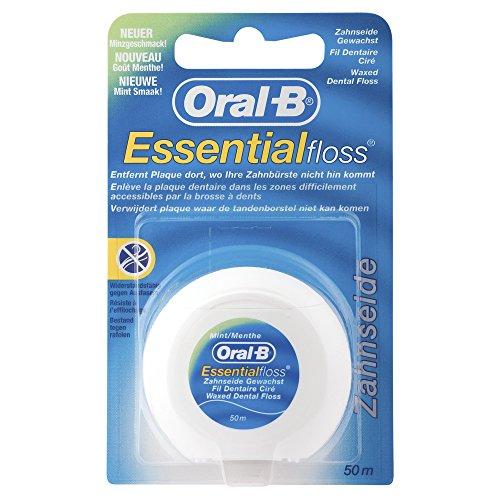 Oral-B Essentialfloss Zahnseide Mint gewachst, 50 m