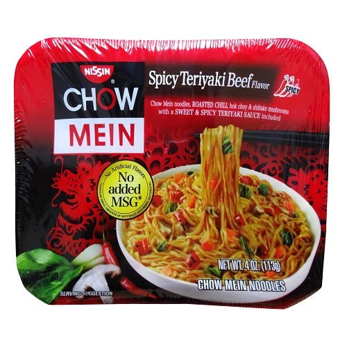 Nissin Spicy Teriyaki Beef Chow Mein (Case of 8)