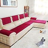 Sofabezug Für ledercouch, Multi-Size Rechteckige Möbel Protector Slipcover Für Haustiere, Kinder, Hunde - Sofa und Sessel-Rot 60x60cm(24x24inch)
