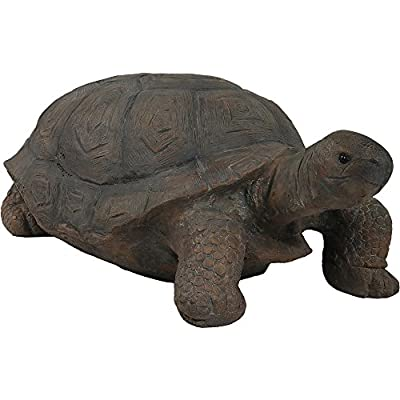 Sunnydaze Tanya The Tortoise Garden Statue, Large Indoor/Outdoor Yard Decoration, 20 Inch Long
