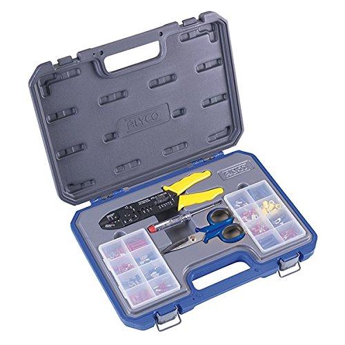 Alyco 108006 - Juego 147 piezas alicates para terminales aislados + tijeras electricista + buscapolos