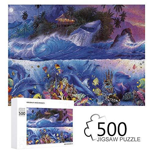 Promini Christian Riese Lassen Jenseits des Riffs III 500 Teile Puzzles aus Holz Tägliche Puzzlespiele für Erwachsene und Kinder