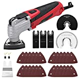 FUJIWARA Oscillating Multi-Tool Kit,2.5Amp 6 Variable Speed with Quick Lock Blade Change,Oscillating Saw Tool Angle 3.2°for Sanding Cutting Grinding with 33pcs Accessories