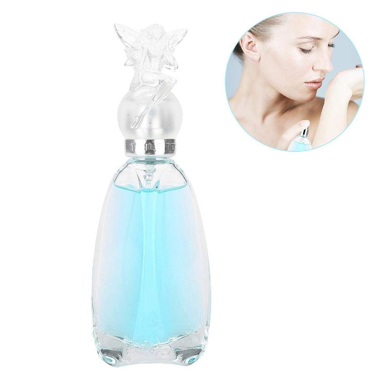 姓配置洗う50ミリリットル香水ウォータースプレー、女性のための香水フレッシュフルーツフレグランスパーティー女王香水ガラス瓶セクシーな素晴らしい長続きがする香水(Blue)