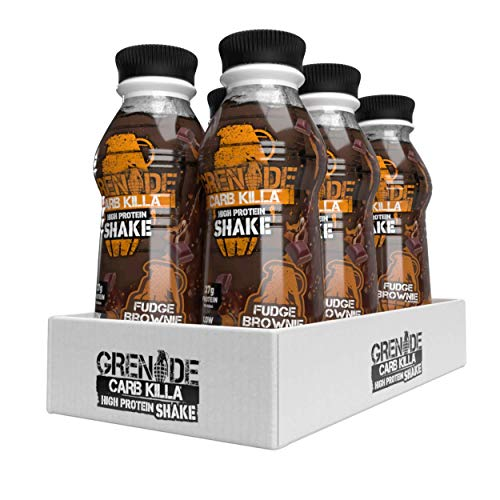 Grenade Carb Killa Fudge Brownie High Protein Shake, 6 x 500 ml