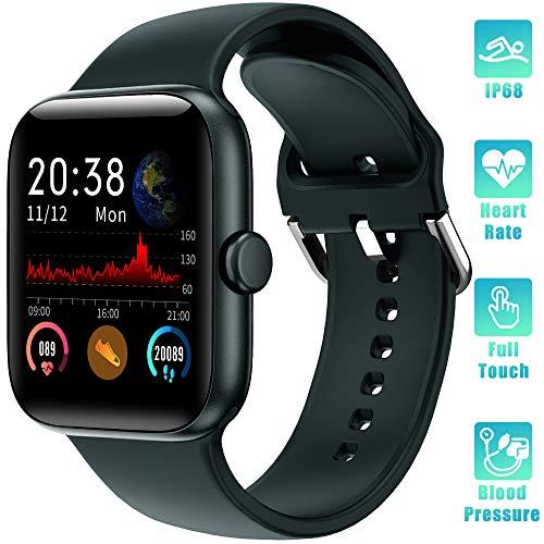 LIFEBEE Montre Connectée Femmes Homme Smartwatch Étanche IP68 Bracelet Connecté Cardio Tensiomètre Podometre Sommeil Enfant Sport Fitness Tracker d'Activité pour Android iPhone(Vert)