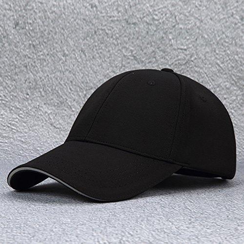 Chapeau femelle/casquette de baseball de l'été/chapeau dom/chapeau de soleil/chapeau à bord allongé/chapeau de soleil respirant extérieur de protection solaire de loisirs (couleur: noir)