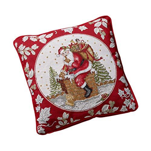 Villeroy & Boch Toy's Fantasy Cuscino Gobelin, Cuscino Decorativo con Motivi Babbo Natale Composto...