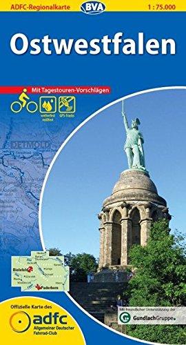 ADFC-Regionalkarte Ostwestfalen mit Tagestouren-Vorschlägen, 1:75.000, reiß- und wetterfest, GPS-Tracks Download (ADFC-Regionalkarte 1:75000)