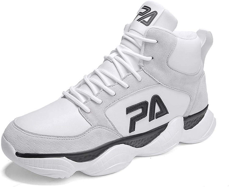 GLSHI Men High Top Basketball shoes Autumn Lightweight Sneakers Outdoor Running shoes