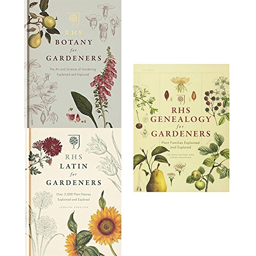 Rhs botany, latin and genealogy for gardeners 3 books collection set
