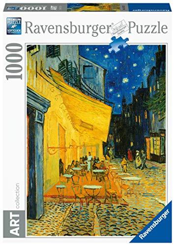 Ravensburger - Puzzle Adulte 1000 p - Terrasse de café, le soir - Vincent Van Gogh - Art Collection - 15373