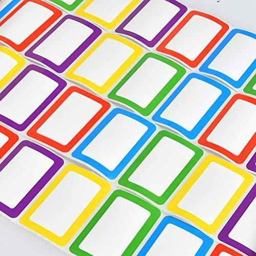 OFNMY 250pcs Multiusos Cintas de Etiquetas Adhesiva Papel para Tarros,Cajas,Regalos,Navidad,Boda,Fiesta (89 *...