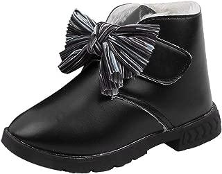 TIFENNY Children Infant Winter Snow Boots Kids Baby Girls Winter Warm Bowknot Princess Short Boots Plus Velvet Shoes