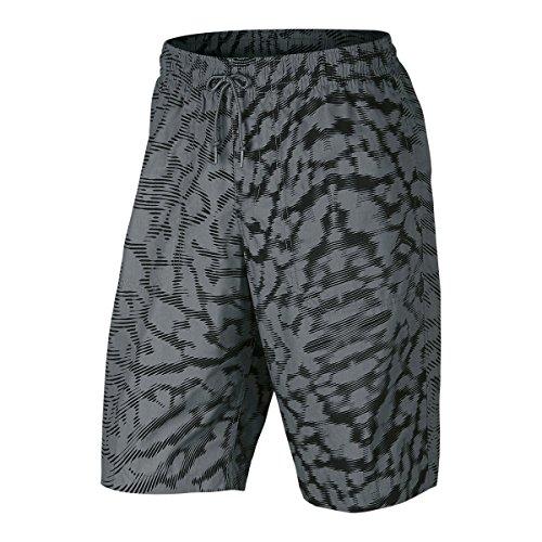 Nike Printed City Short Herren Shorts 36 Grau/Schwarz