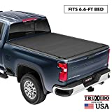 TruXedo TruXport Soft Roll Up Truck Bed Tonneau Cover | 272001 | fits 14-18, 2019 Limited/Legacy GMC Sierra & Chevrolet Silverado 1500, 2500HD, 3500HD 6'6' bed