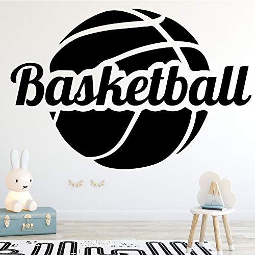 Diseño Baloncesto Deportes Logo Sign NBA Kobe Jordan James Etiqueta de la pared Vinilo Coche Calcomanía Boy Fans Dormitorio Sala de estar Club Decoración para el hogar Mural