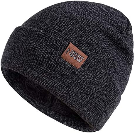 Nertpow Winter Daily Beanie Hat for Men Women Warm Fleece Lined Thermal Trendy Thick Knit Skull product image