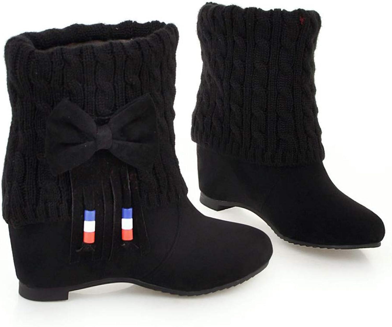 CITW Damenstiefel Brüten Stiefel Groformatige Damenstiefel Gefrostete Stiefel Mit Hohen Stiefeln Warme Damenstiefel,schwarz,UK2 EUR36
