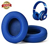 Professional Replacement Ear Pads for Beats Studio/Compatible with Studio Wired B0500 / Wireless B0501 / Studio 2 and Studio 3/Soft Protein Leather/Noise Isolation Memory Foam (Blue)