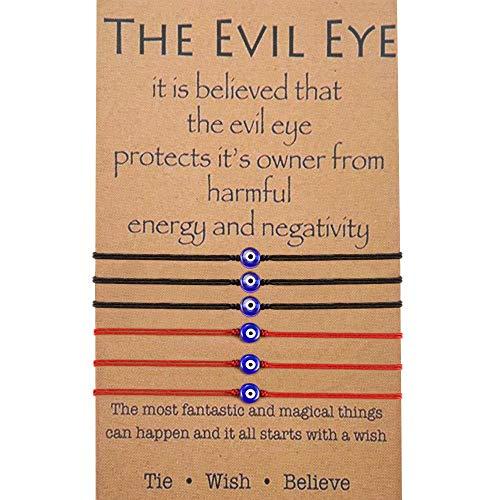BOCHOI Evil Eye Armband für Frauen Viel Glück String Armband Kabbala Schutz Freundschaft Wunsch Armband Schmuck für Mädchen Freundin Frau Tochter Tochter Geburtstagsgeschenke