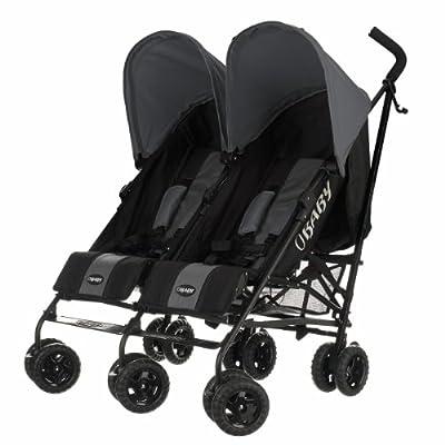 Obaby–Carrito para bebé Apollo negro y gris para gemelos. negro gris