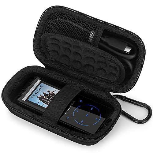 Estuche Funda para Victure SUPEREYE IHOUMI mibao AGPTEK MYMAHDI MP3 MP4 Reproductor Bluetooth, Caja Cubrir de Tapa Dura Caso Bolso Protectora (Black)
