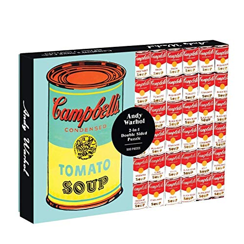 Puzzle, Andy Warhol Soup Can 2-sided 500 Piece Puzzle