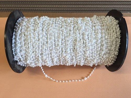 Jellinghaus Sonnenschutz Lamellen Abstandskette/Clips mit Kette/Verbindungskette für 127 mm Vertikaljalousie - Lamellen Vorhang weiß aus Kunststoff (60 Clips)