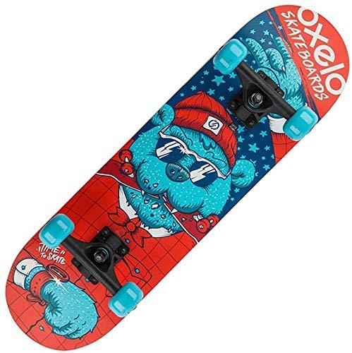 Nologo Skateboard Profi Skateboard, 360-Grad-Starke Beschleunigung Waveboard und Anti-Rutsch-Konkav-Plattform tragbare Kinder Skateboard dongdong