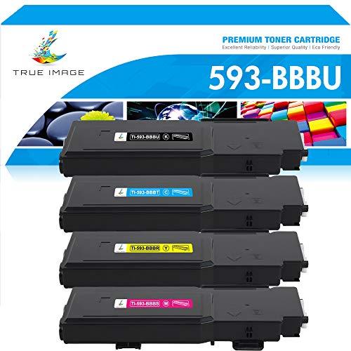 True Image Cartucho de tóner compatible para Dell 593-BBBU 593-BBBT 593-BBBR 593-BBBS Tóner para impresora láser Dell Color C2660dn C2665dnf