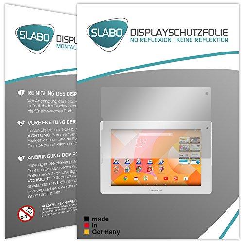 Slabo 2 x Bildschirmschutzfolie für Medion Lifetab P8912 (MD 99066) Bildschirmschutz Schutzfolie Folie No Reflexion | Keine Reflektion MATT
