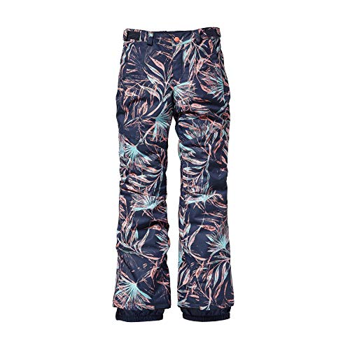 O'Neill Mädchen Kinder Snowboard Hose Charm Slim Pants Girls, Blue AOP w/pink-Purple, 176