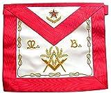 Marca Mandil Masonico de Maestro Mason'M. '. B. '.' 3 grado Masoneria REAA, con bolsillo en el verso, Masoneria, Masonico, Francmasoneria, Freemason, Delantales, Mandiles