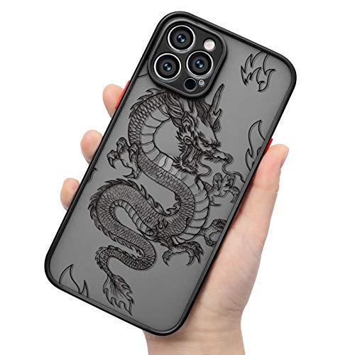 ZhuoFan Funda para Samsung A50 / A50s / A30s Funda (6.4') Silicona Transparente Esmerilada [Hard Acrylic Back Cover] Maravilloso Toque, Suave TPU Bumper Protector de caída Delgado - Dragon Chino