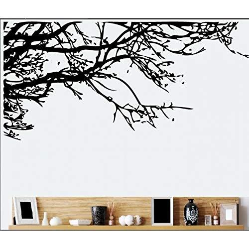 HGFJG Grande 60X140 Cm Nero Rami Di Un Albero Adesivo Da Parete Decorazioni Per La Casa Stickers MuraliPer Soggiorno Adesivi Per Camera Da Letto Murales