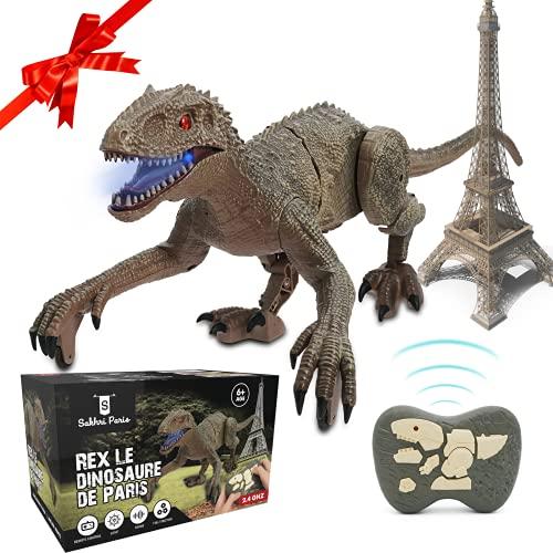 SAKHRI PARIS®– Juguete de Dinosaurio Teledirigido – Rex el Dinosaurio de París – Movimientos...