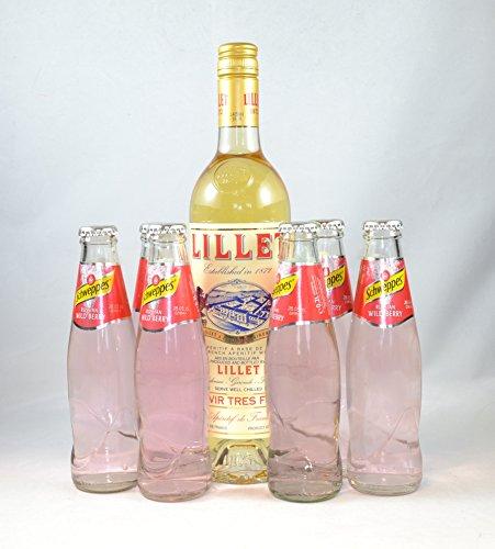 Lillet Apéritif de France 0.75 l (17%) + 6 Schweppes Russian Wild Berry 0,2l 'Lillet Berry'
