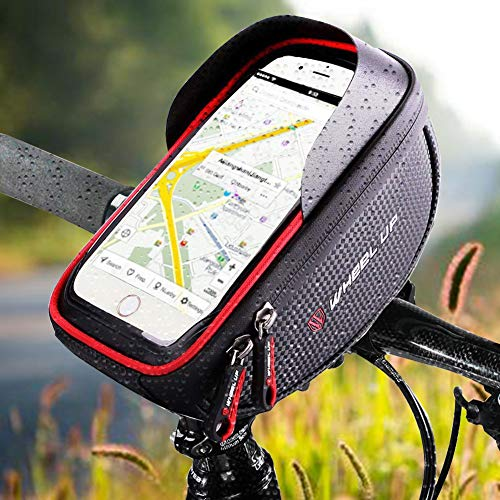 IREGRO Borse Bici Bicicletta Borsa da Manubrio Porta Telefono per...