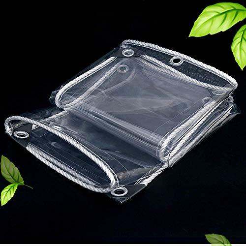 LLDKA Topping Protector de PVC Transparente de 0,35 mm, Tapa Resistente a la Lluvia Impermeable de la Lona del pabellón, toldo al Aire Libre al Aire Libre,1.8mx3 M