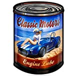 ABLERTRADE DHArt Rustic Metal Tin Sign Classic Motor Cars Pin Up Girl Vintage Wall Plate Plque 8X12 ...