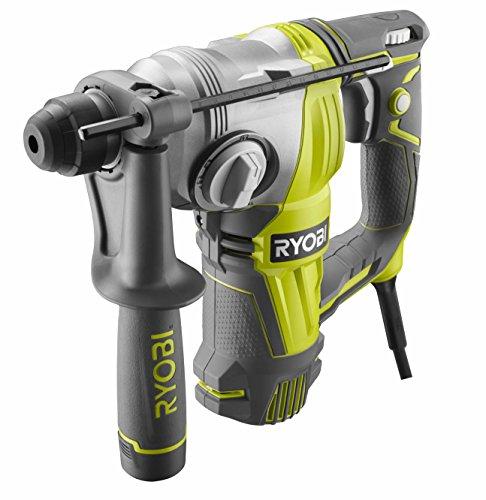 Ryobi 5133004441 800 W Motor 2,95 Joule mit 2 Bohrerbits, 1 Bohr-/Meißelhammer RSDS800-KCA5
