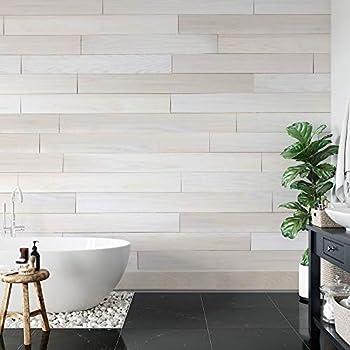 Novogratz Genuine Hardwood Wall Panels - DIY Simple Peel & Stick Application  20 Sq Ft of 5.1  Wide Panels  Lace