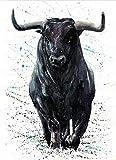 CCJIANI Principiantes Adultos niños Pintura al óleoVaca Animal Kit de Pintura Digital DIY acrílico, Utilizado para la decoración de la Pared del hogar-40 x 50 cm (sin Marco)