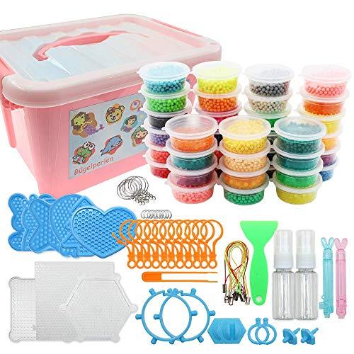 Outuxed Wasserperlen Kit 12000 Magische Wasser Klebrige Perlen 36 Farben Wassersprüh Perlen Set Kompatibel mit Kunsthandwerk Spielzeug