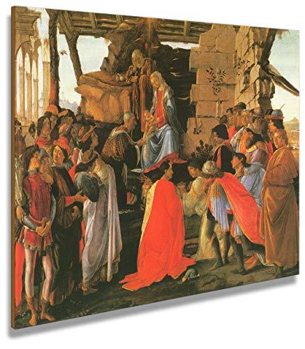 digitalpix Artenòr Gemälde Botticelli Die Magi 1475 Kunstdruck auf Leinwand, 100 x 79 cm
