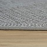 Paco Home In- & Outdoor Flachgewebe Teppich Terrassen Teppiche Natürlicher Look In Grau, Grösse:80x150 cm - 3