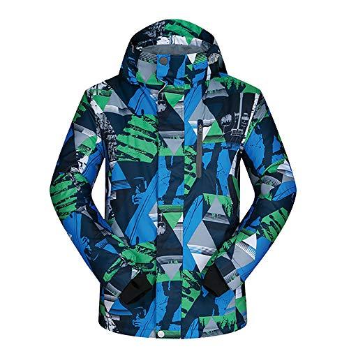 JW-YZWJ Herren Ski Top, Wind- und wasserdichte Kapuze warme Outdoor-Sportbekleidung, Snowboard Jacke, Winterberg Anzug,XXXL