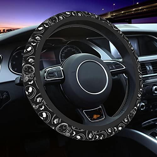 Nightmare Before Christmas Steering Wheel Cover Cute Car Accessories Universal Halloween Steering Wheel Covers 15 Inch